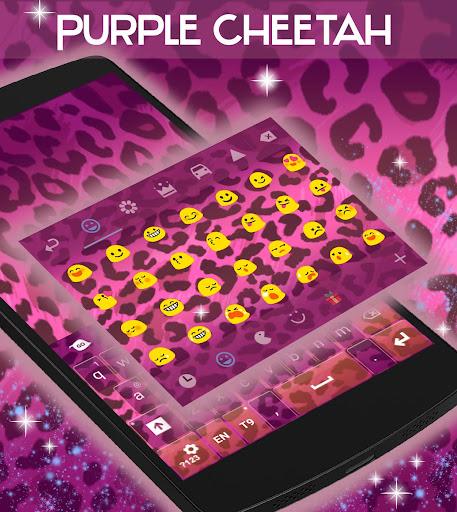 玩免費個人化APP|下載紫色のチーターのキーボード無料 app不用錢|硬是要APP