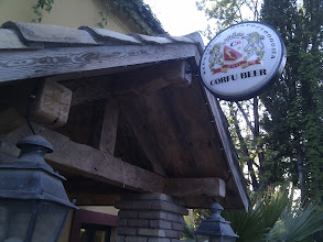 Photo: Great to find Corfu beer served at Daphne's Lucciola bar