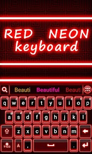 Red-Neon-GO-Keyboard-Theme 4