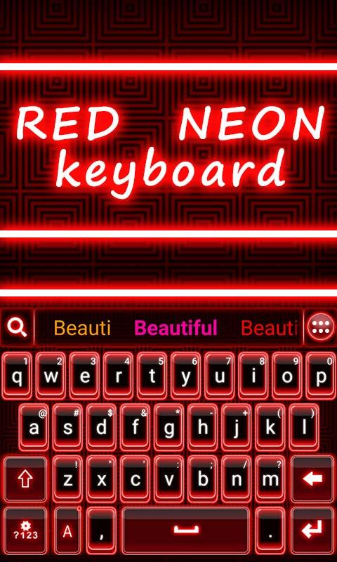 Red-Neon-GO-Keyboard-Theme 11