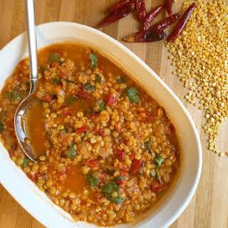 Masala Spiced Lentils.
