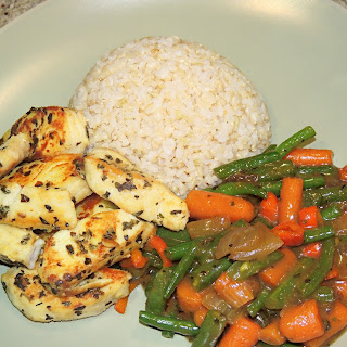 Tilapia Stir Fry with Vegetables and Brown Rice Recipe