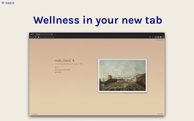 Oasis ❊ Wellness in your New Tab