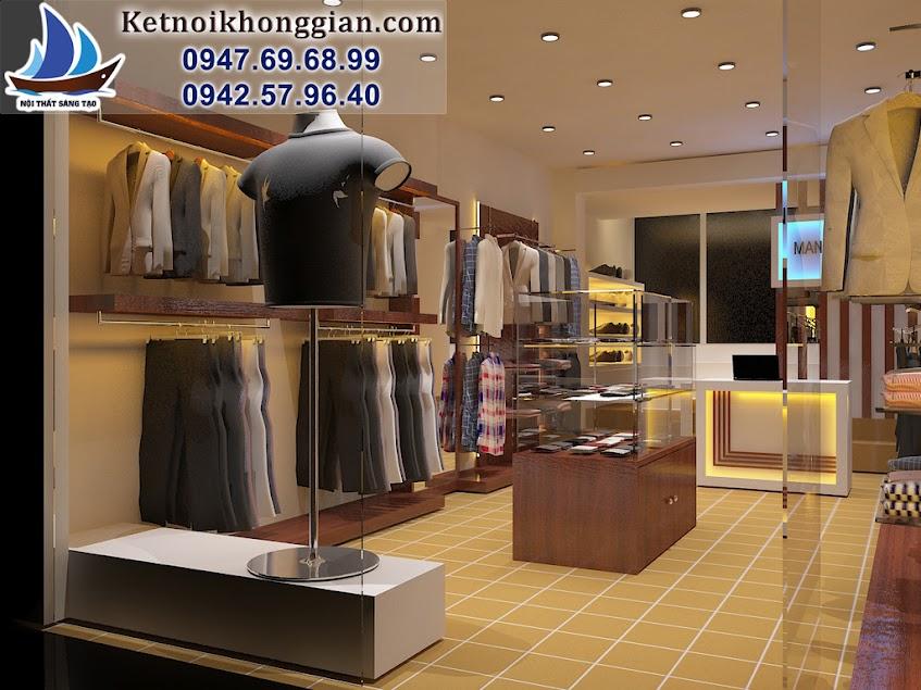 thiết kế shop thời trang nam triều khúc