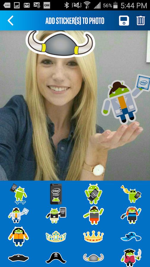 Intel® Selfie App for Android* - screenshot