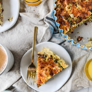 Roasted Broccolini, Bacon and Caramelized Shallot Quiche