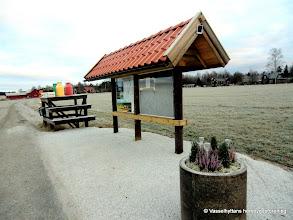 Photo: Mjölkpallen. Informationstavlan vid riksväg 50 i Vasselhyttan,  uppsatt 2011
