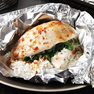 Foil-Pack Fish Florentine.