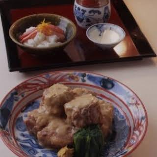 Pork Rib Stewed in White Miso Sauce.