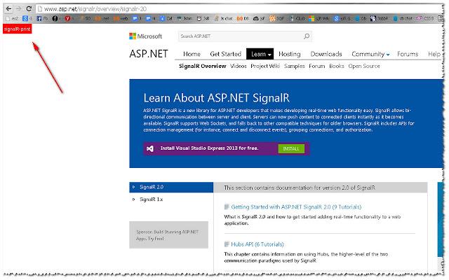 signalR-Print: print signalR documentation