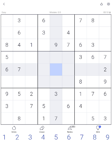 Sudoku - Sudoku puzzle, Brain game, Number game screenshots 9