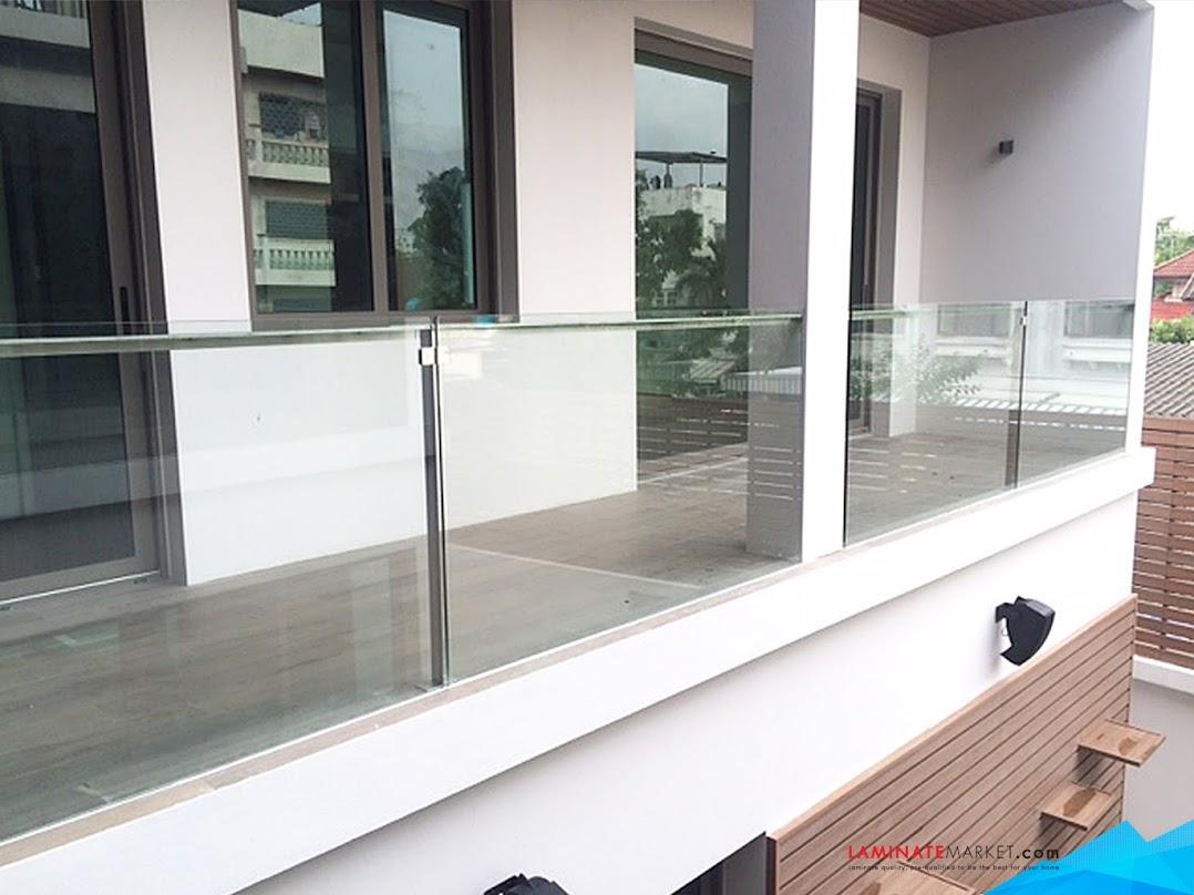 งานติดตั้งระเบียงกระจกเทมเปอร์แบบฝังพื้น หน่วยงานราชพฤกษ์