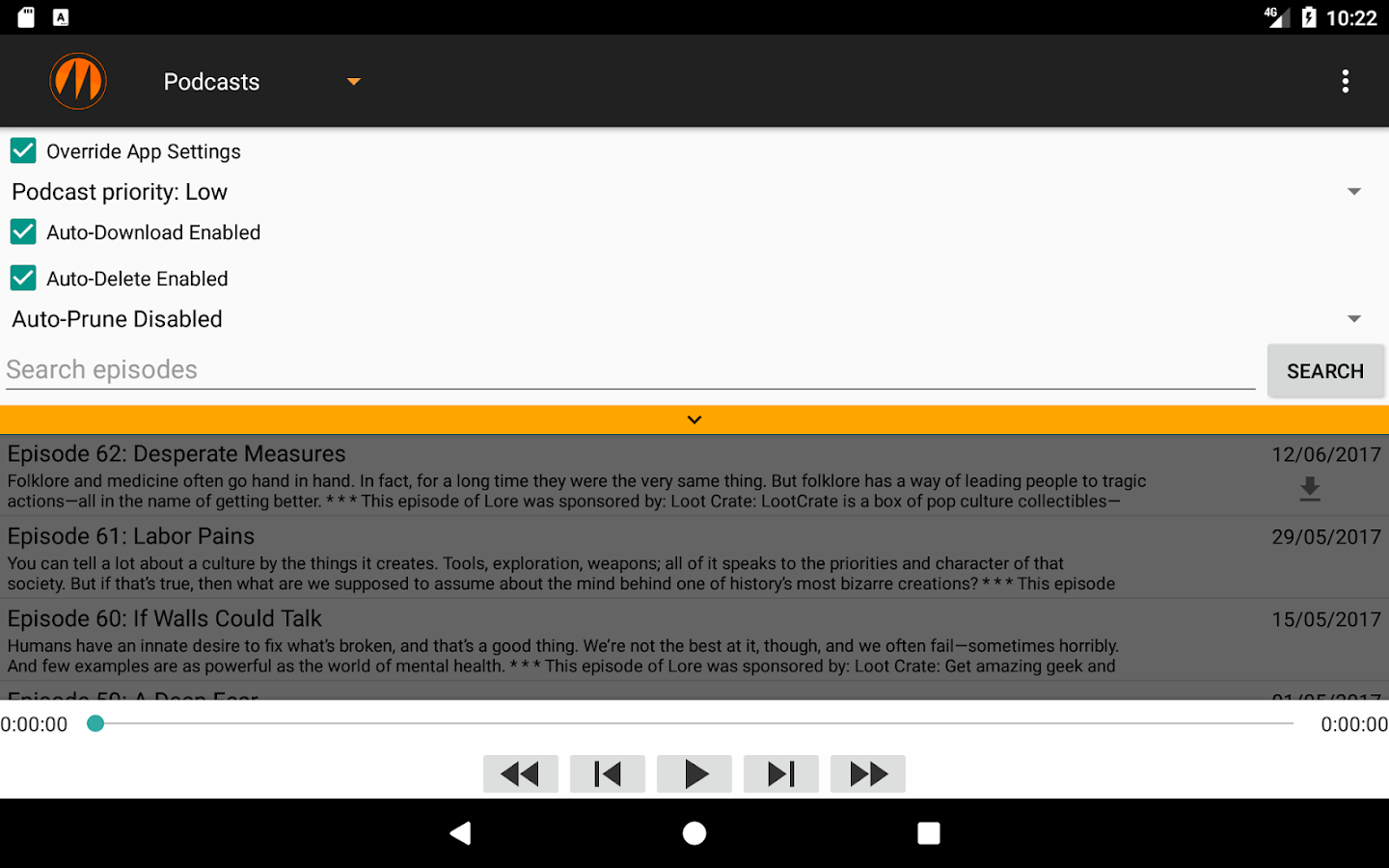 metapod podcast manager android apps on google play