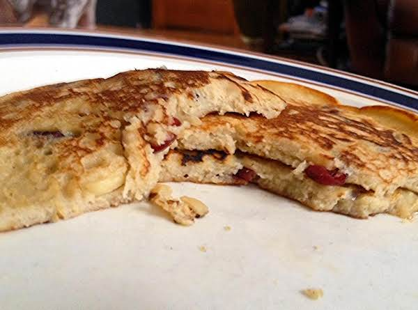 Cranberry Banana  & Almond Pancakes Recipe