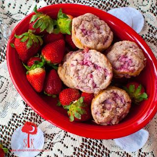 Valentine's Day Strawberry Love Muffins