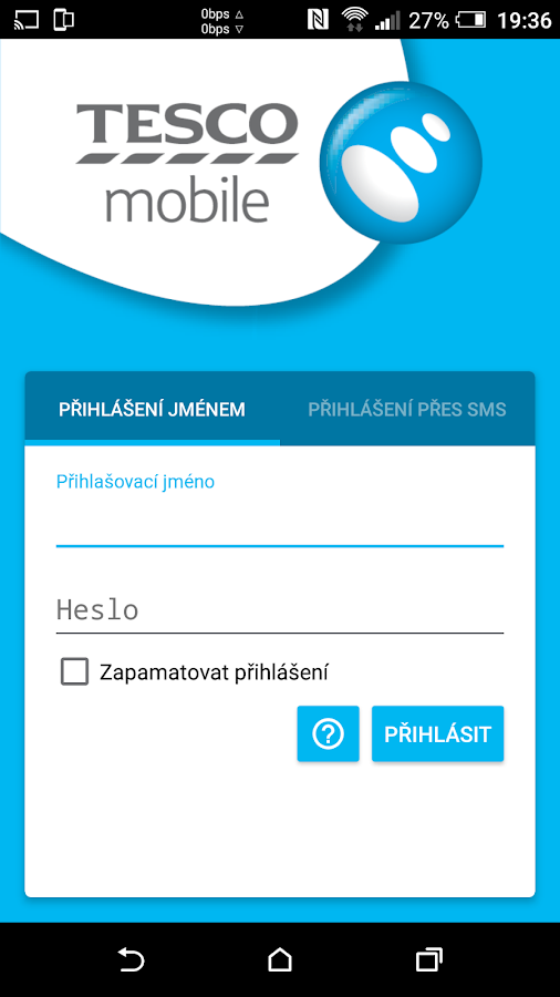 Můj Tesco Mobile- screenshot