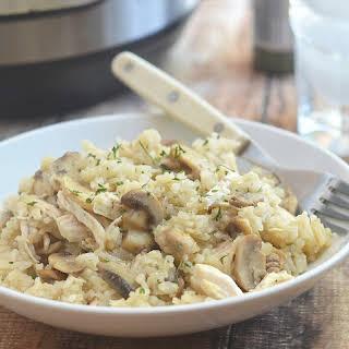 Instant Pot Chicken Mushroom Rice.