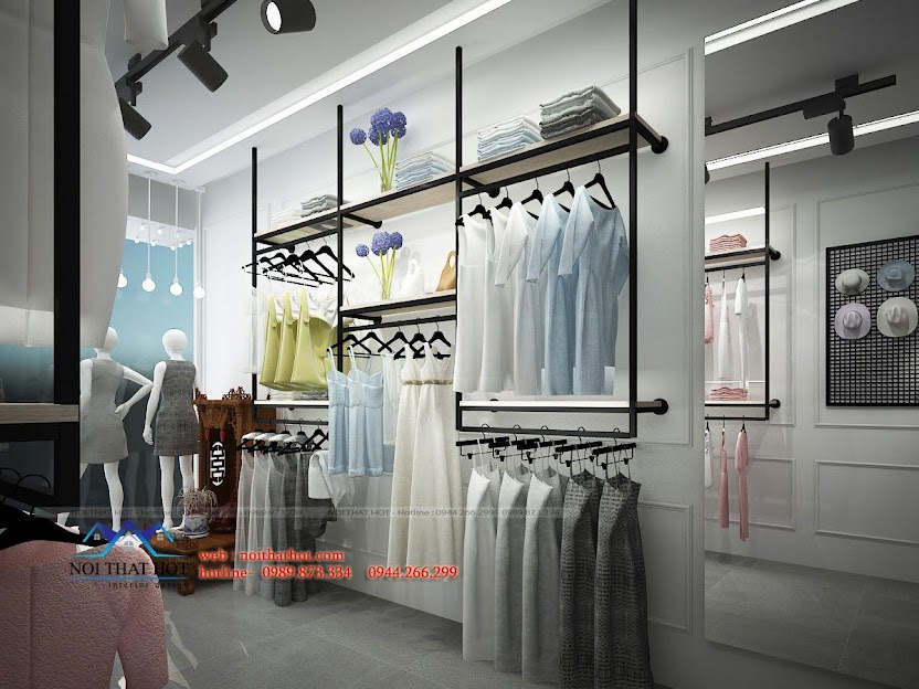 thiết kế shop thời trang L&M 5