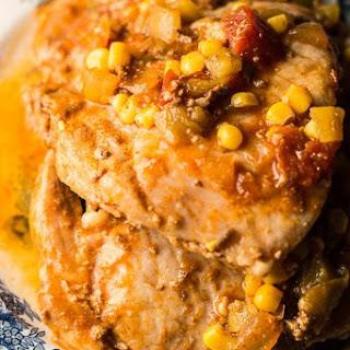 Fiesta Slow Cooker Pork Chops.