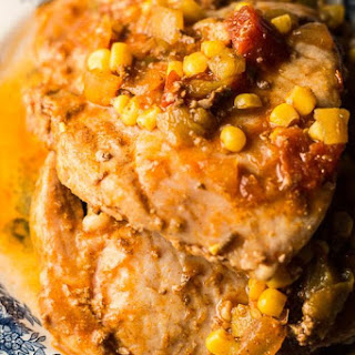 Fiesta Slow Cooker Pork Chops.