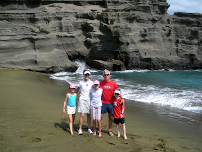 Photo: Papakolea Beach - Spectacular Green Sand Beach....four wheeling to get there was a bit dicey!