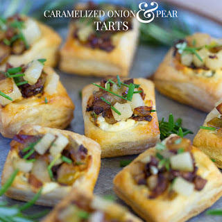 Caramelized Onion & Pear Tarts