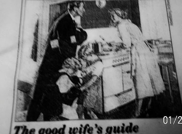 A Good Wife's Guide  Good Housekepping  1955 - Recipe