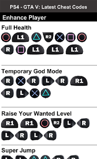 gta five cheat codes for ps4