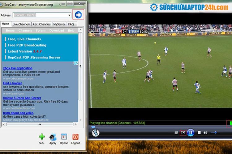 Phần mềm Sopcast