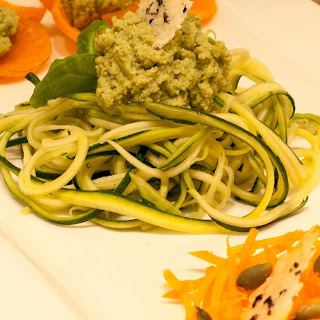 Avocado and Seeds Pesto with Zucchini Noodles