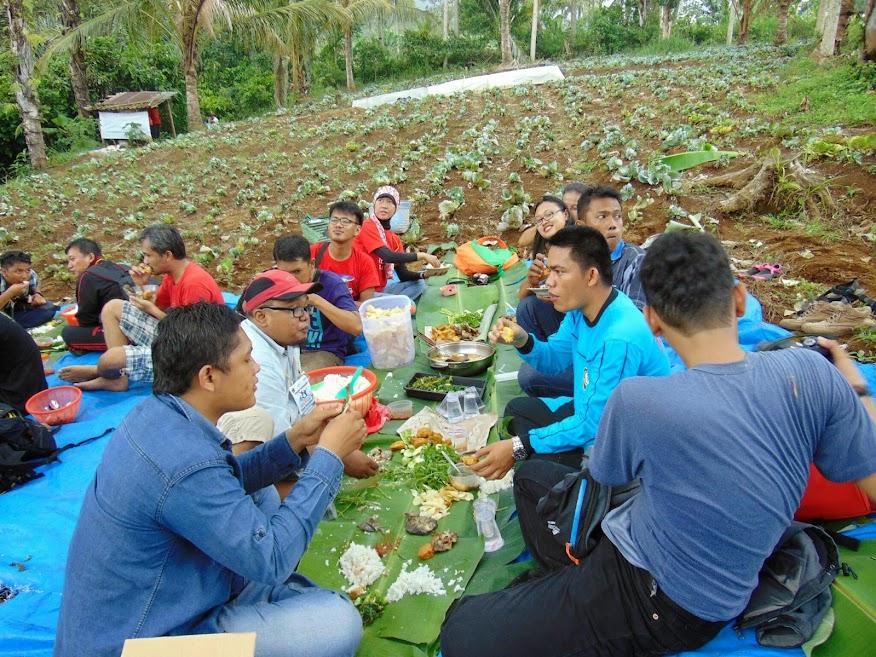 makan di kebun