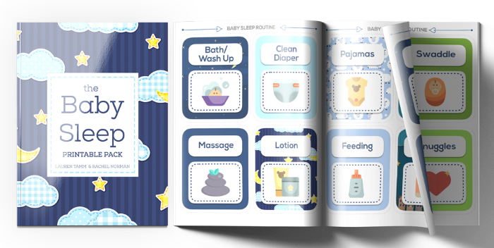 What you need is something simple, easy and straightforward to keep everyone on the same page when it comes to best baby sleep practices.  Inside the baby sleep printable pack, you'll receive a step-by-step guide to infant routines, as well as simple, easy-to-follow checklists on troubleshooting infant sleep.
