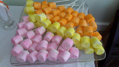 Photo: Colorful Marshmallows for your Candy Buffet Table by http://www.BestPartyPlanner.net
