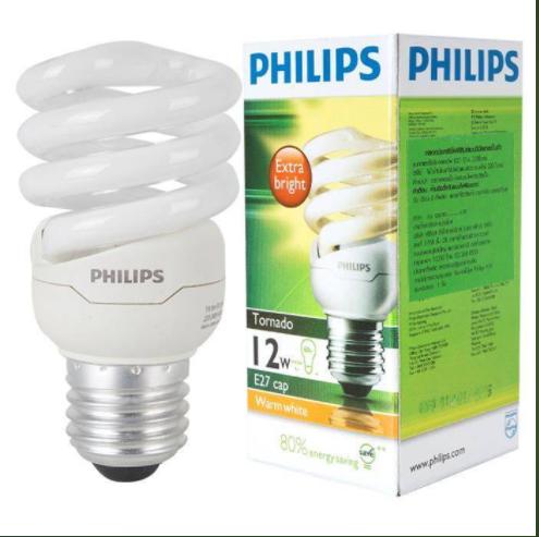 Bao bì đèn Led Philips có ghi thông số  Watt và Lumen