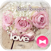 Chic Wallpaper Roes Bouquet Theme