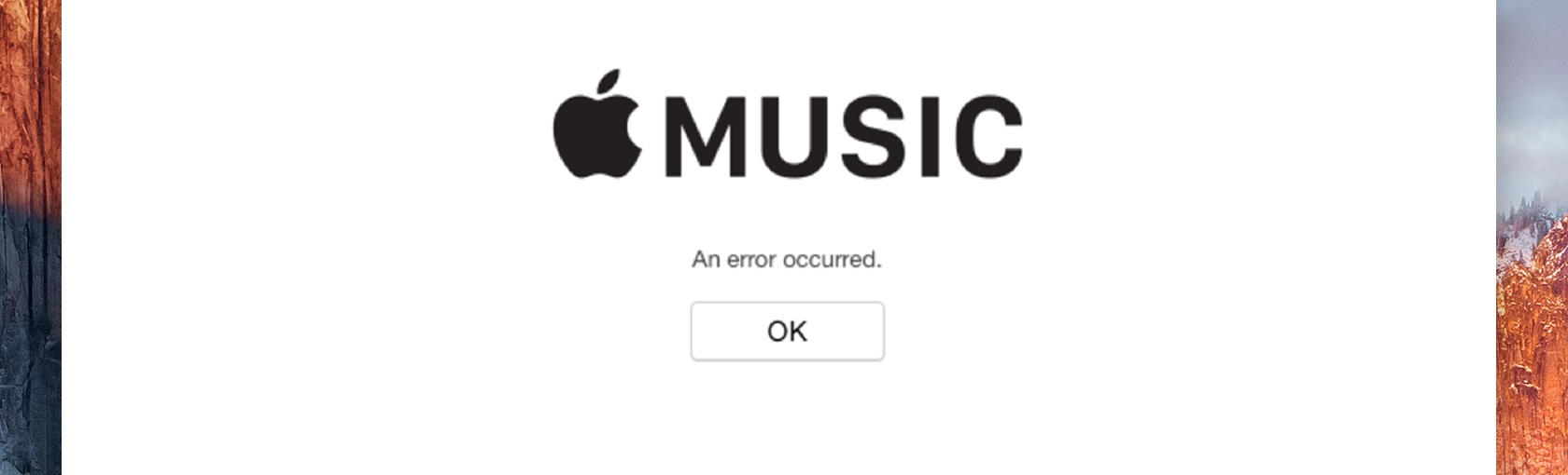 A simple, elegant, completely useless iTunes error message captured by Allen Pike