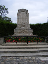 Photo: And not far away is the ever-present war memorial.