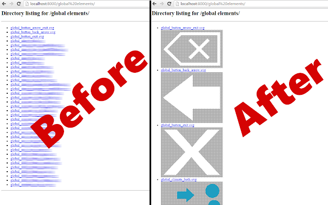 SVG link viewer