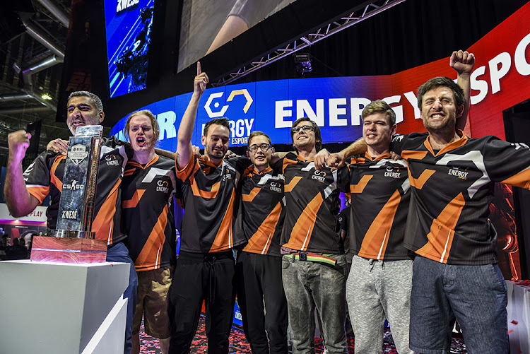 Energy Esports celebrates their win in the ESL African CS:GO Championships on Saturday over the expected winners, Bravado Gaming.