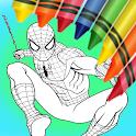 Spider Boy Coloring Book Hero icon