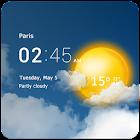Прозрачные часы и погода icon