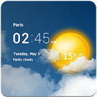 透明时钟和天气 icon