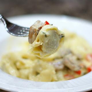 Mushroom Sausage Tortellini