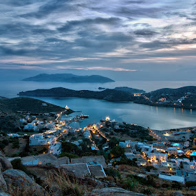 The port of Ios island-Greece by Giannis Paraschou - Landscapes Sunsets & Sunrises ( aegean island ios, view of ios port, greek islands,  )