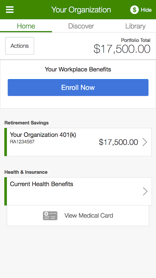 NetBenefits- screenshot