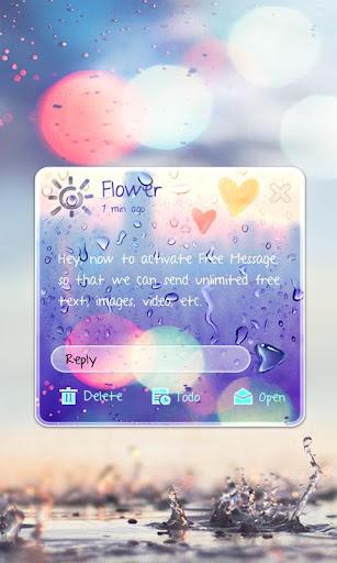 (FREE) GO SMS RAINY THEME Screenshot