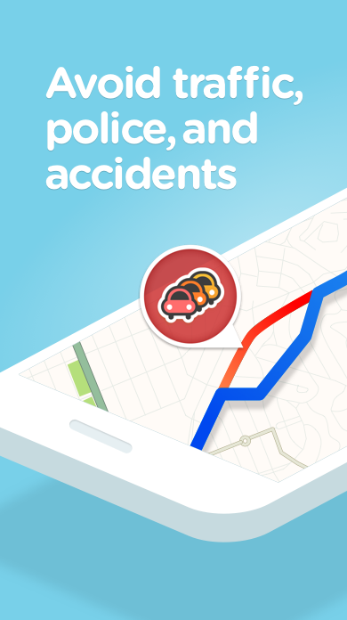 Screenshots of Waze for iPhone