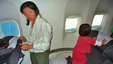 Photo: Upstairs on a 747, probably 2002.