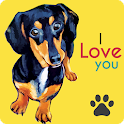 Cute Dachshunds Wallpaper icon