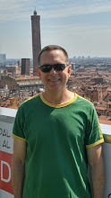 Photo: David from the top of San Petronio, the two towers in the background